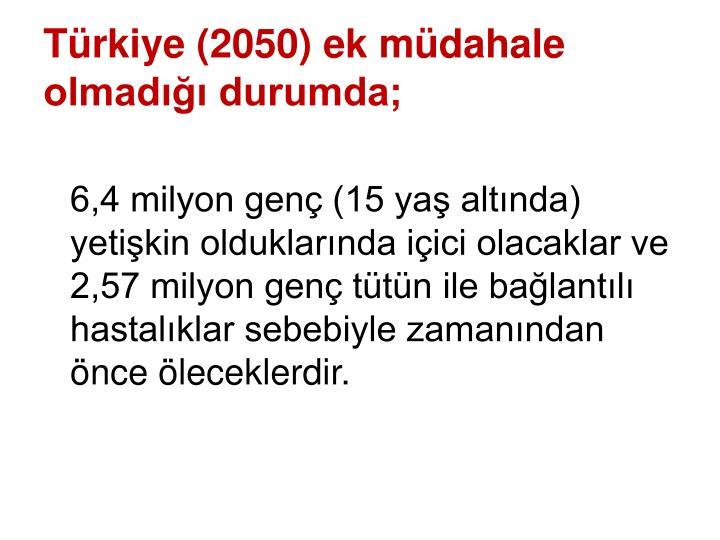 Türkiye (2050) ek müdahale olmadığı durumda;