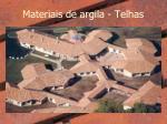 materiais de argila telhas
