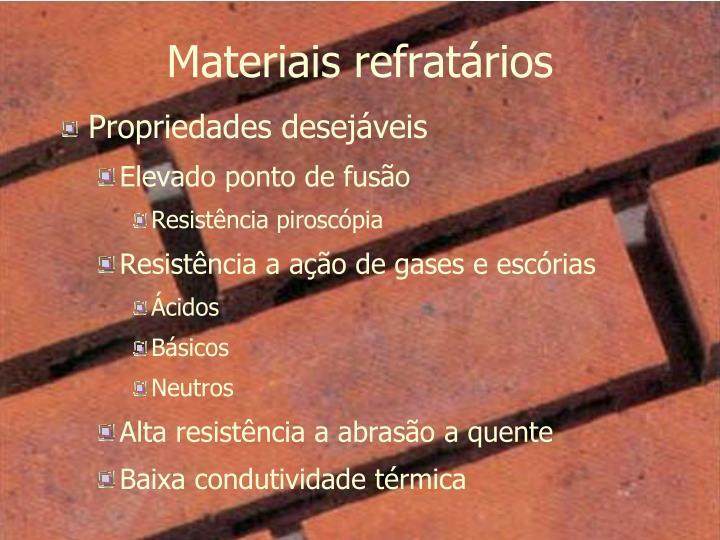 Materiais refratários