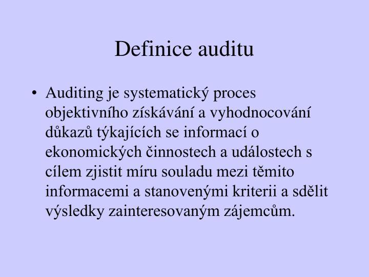 Definice auditu
