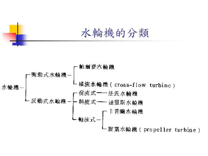 水輪機的分類