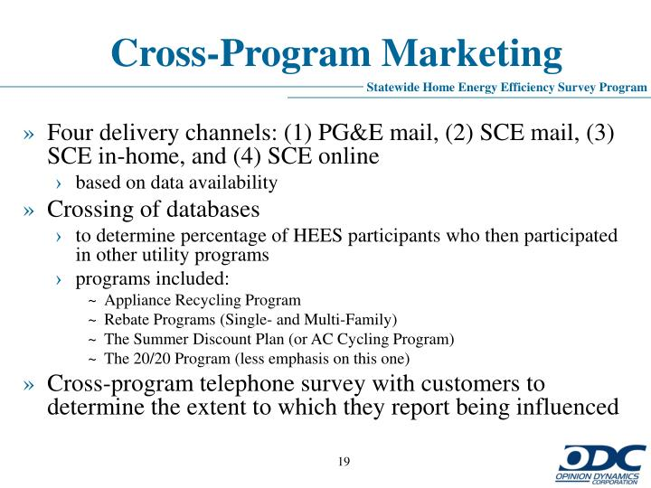 Cross-Program Marketing