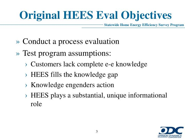 Original hees eval objectives