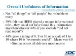 overall usefulness of information