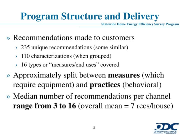 Program Structure and Delivery
