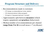 program structure and delivery2