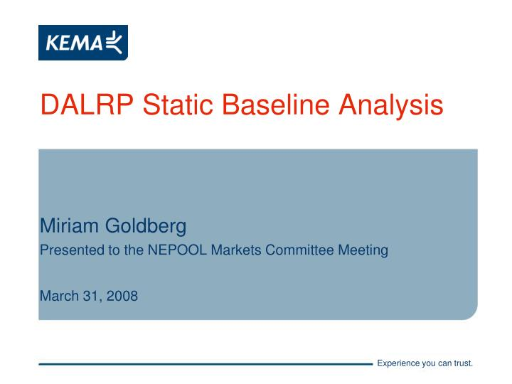 dalrp static baseline analysis