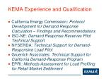 kema experience and qualification