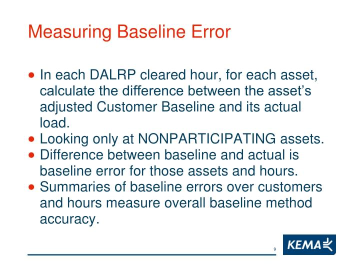 Measuring Baseline Error