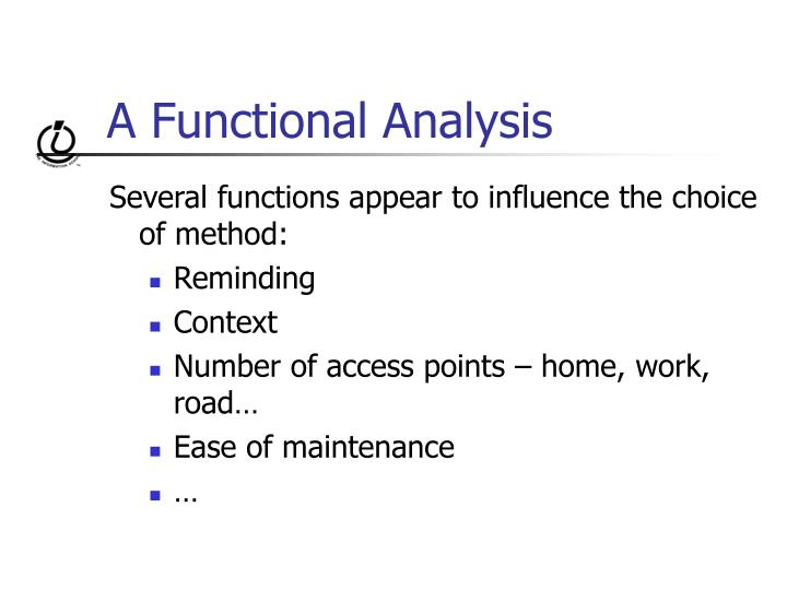 A Functional Analysis