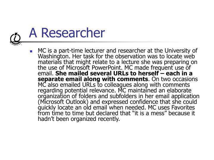 A Researcher