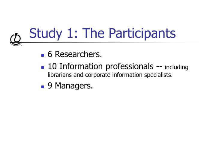 Study 1: The Participants