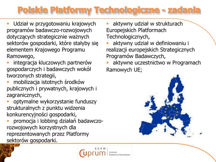 Polskie Platformy Technologiczne - zadania