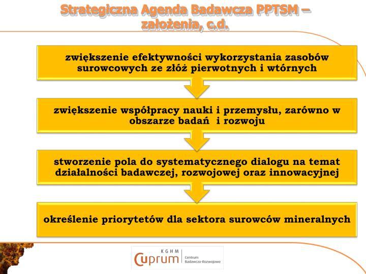 Strategiczna Agenda Badawcza PPTSM –