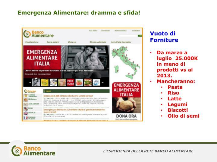 Emergenza Alimentare: dramma e sfida!