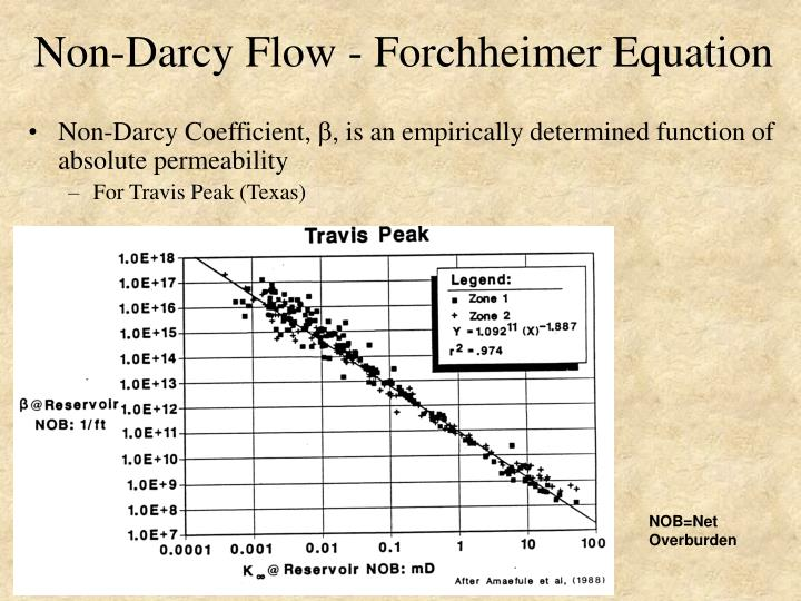 Non-Darcy Flow - Forchheimer Equation