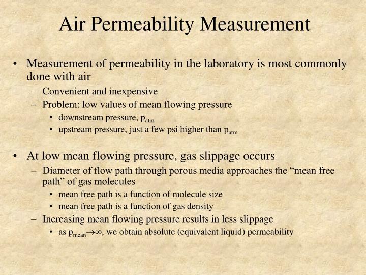 Air Permeability Measurement