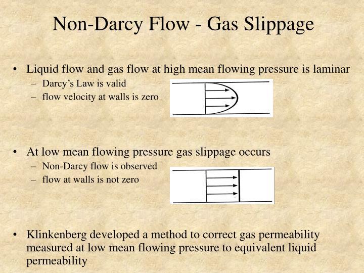 Non-Darcy Flow - Gas Slippage
