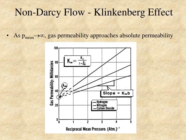 Non-Darcy Flow - Klinkenberg Effect