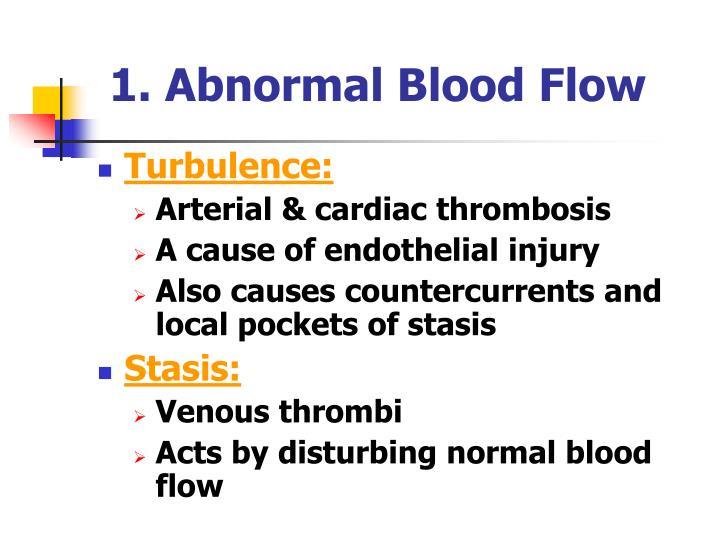 1. Abnormal Blood Flow