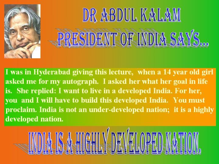 Dr Abdul Kalam