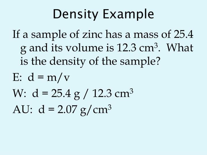 Density Example