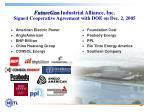 futuregen industrial alliance inc signed cooperative agreement with doe on dec 2 2005