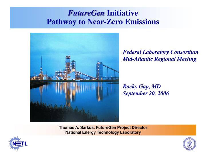 Futuregen initiative pathway to near zero emissions