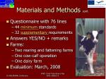 materials and methods cont