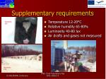 supplementary requirements1