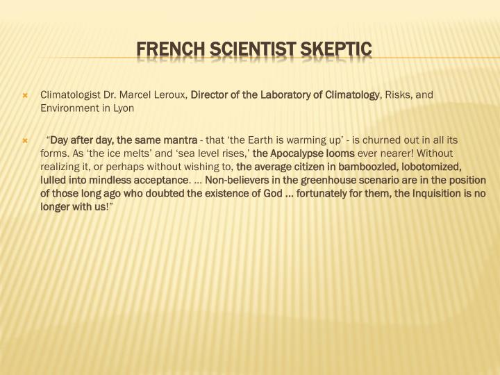 Climatologist Dr. Marcel Leroux,