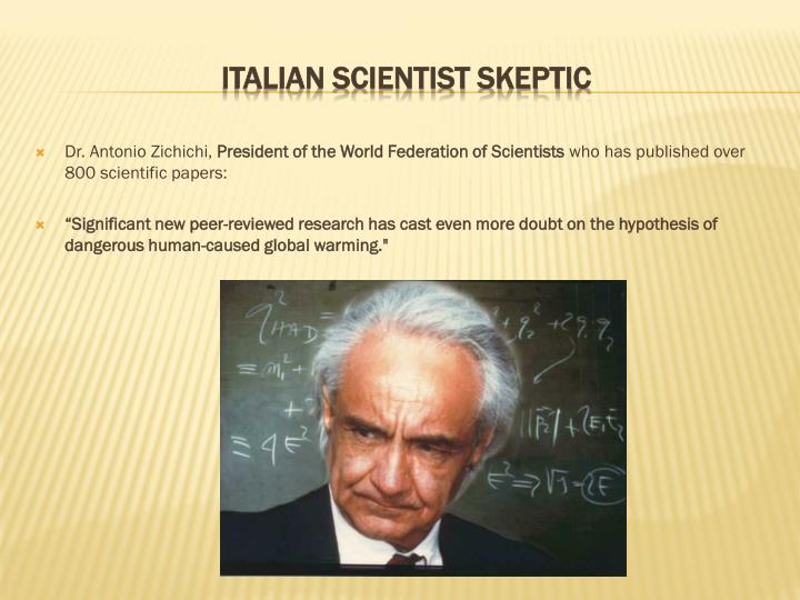 Dr. Antonio Zichichi,