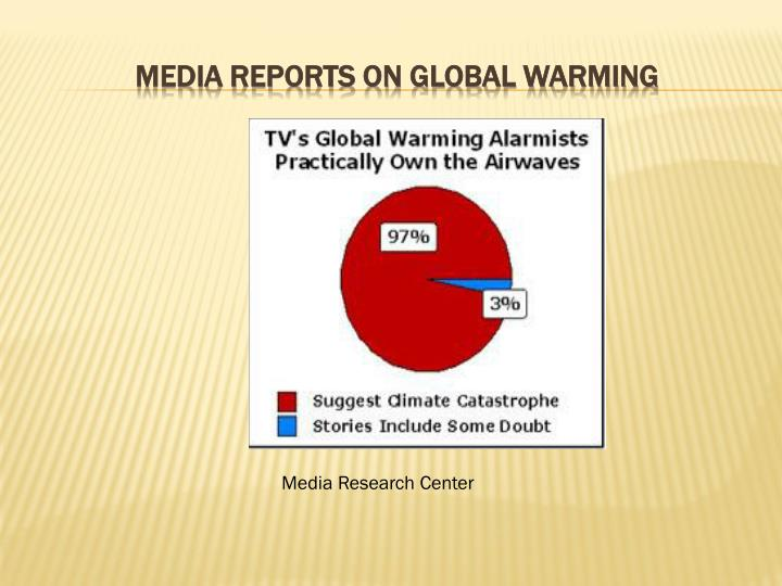 Media reports on global warming