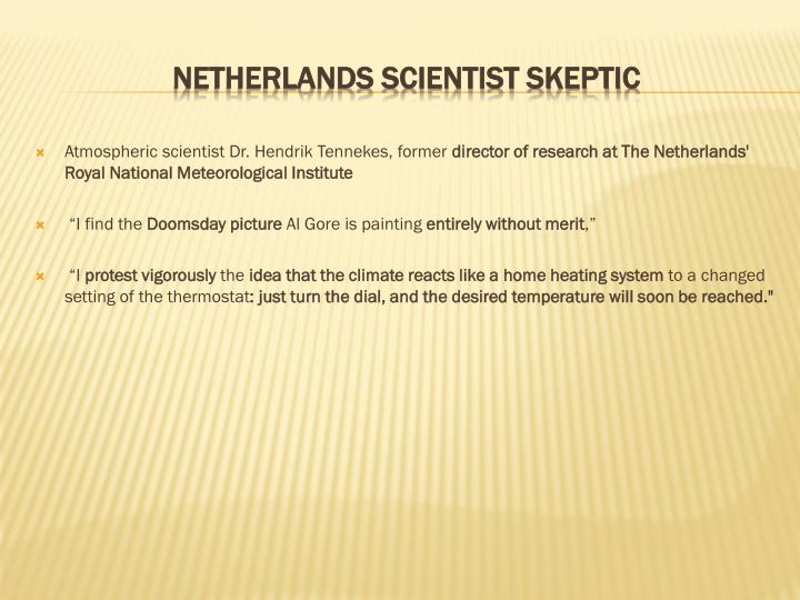 Atmospheric scientist Dr. Hendrik Tennekes, former