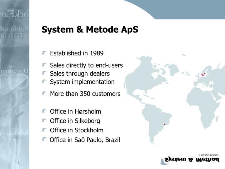 System & Metode ApS