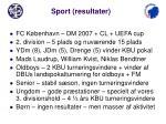 sport resultater