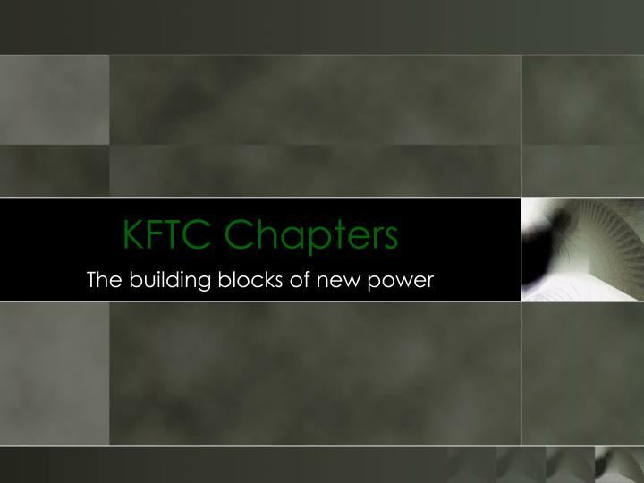 Kftc chapters