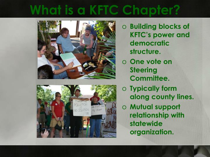 What is a KFTC Chapter?