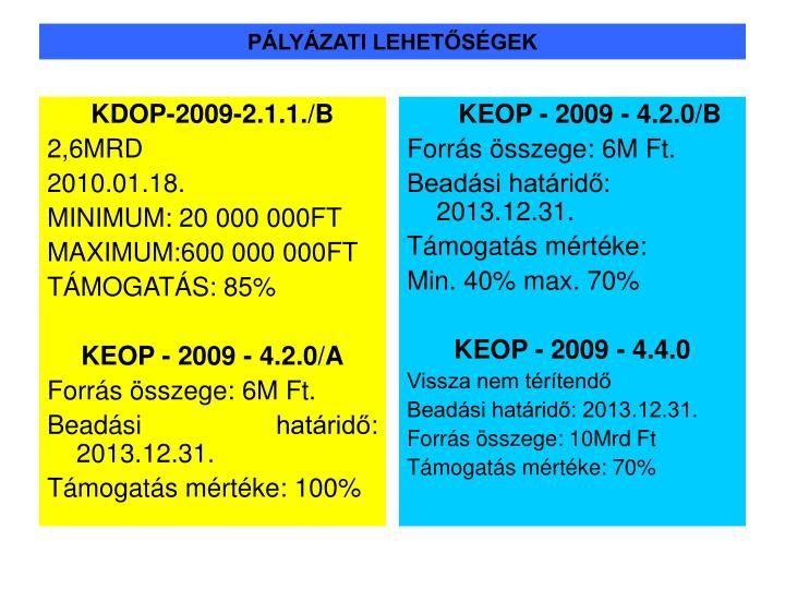 KDOP-2009-2.1.1./B