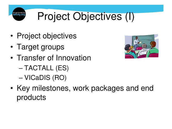 Project Objectives (I)