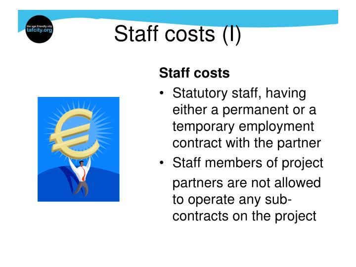 Staff costs (I)