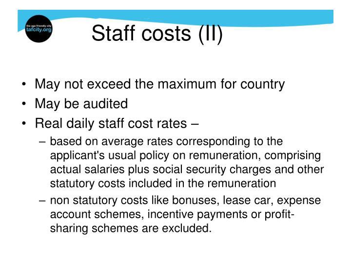 Staff costs (II)