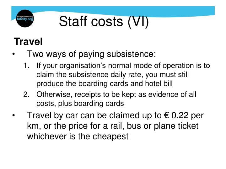 Staff costs (VI)