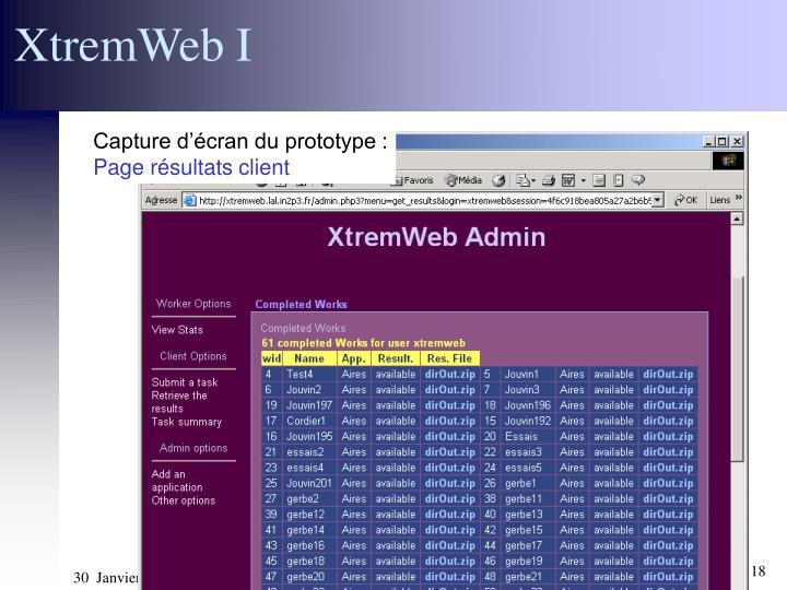 XtremWeb I