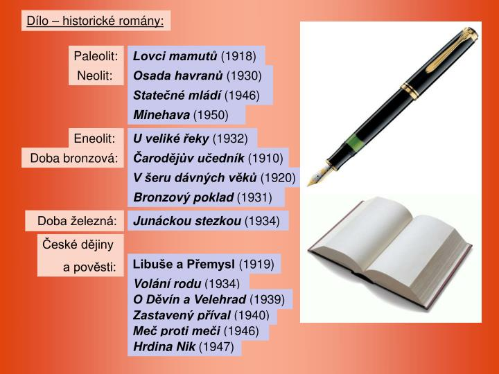 Dílo – historické romány: