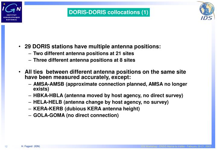 DORIS-DORIS collocations (1)