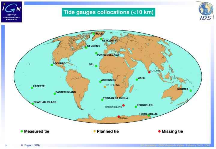Tide gauges collocations (<10 km)