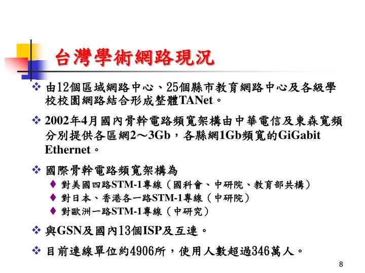 台灣學術網路現況