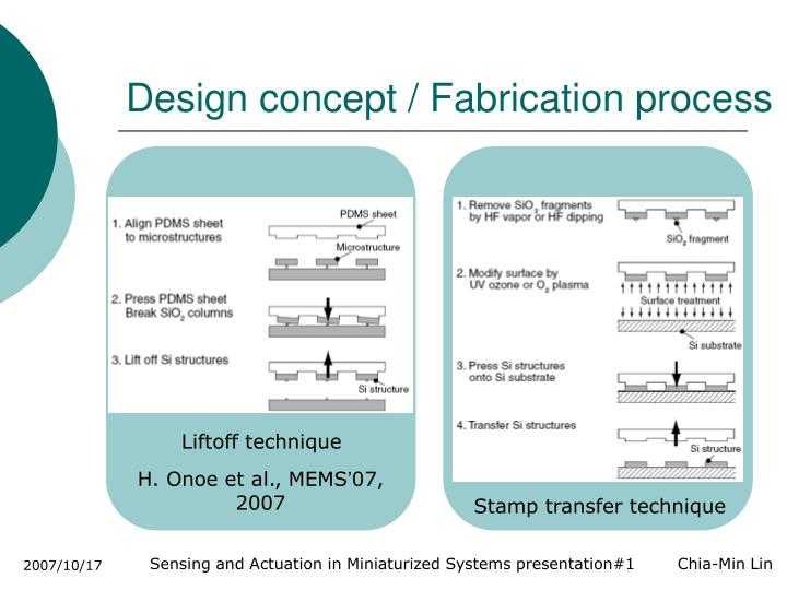 Design concept / Fabrication process