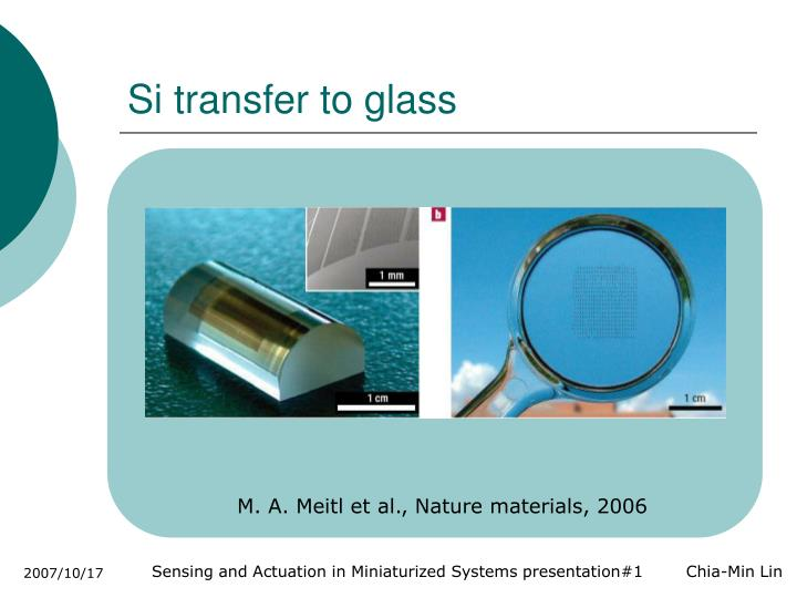 Si transfer to glass